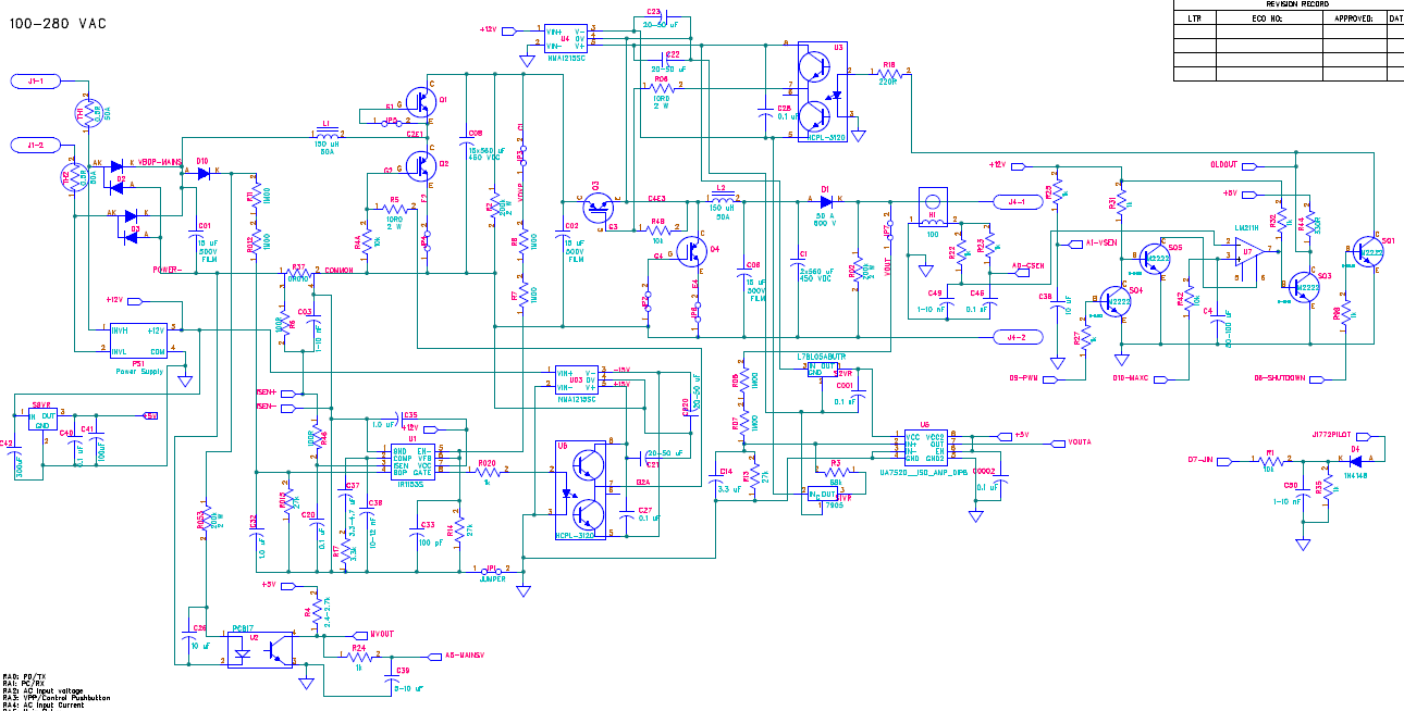 Generating Dc High Voltage From Pwm Microchip Variable Power Supply Circuit Project And Then A Buck Converter That Can 50 Or 60 Amps Into 200 Volt Battery Pack Here Is Partial Schematic Of The Original Design