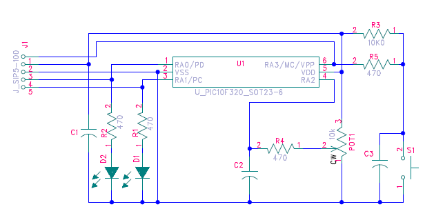 source code and schematic for picf demo board  microchip, schematic